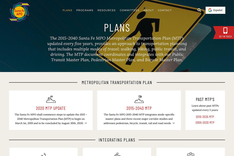Metropolitan Planning Agency Website by Tierra Plan