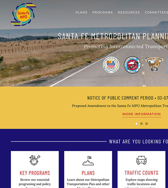 Metropolitan Planning Agency Website by Tierra Plan