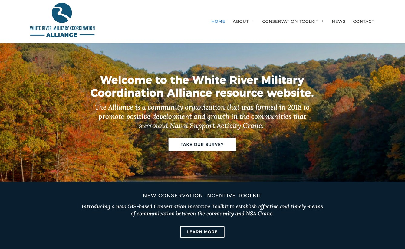 White River Military Coordination Alliance resource website by Tierra Plan